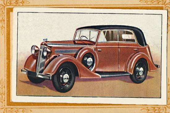 'Vauxhall Big Six Wingham Cabriolet', c1936-Unknown-Giclee Print