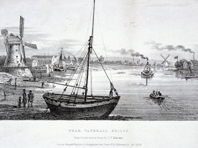 Vauxhall Bridge, London, 1829-FV Martens-Giclee Print