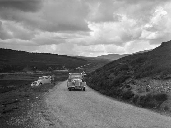 Vauxhall of Dr AT Halton competing in the RSAC Scottish Rally, 1936-Bill Brunell-Photographic Print