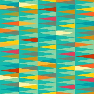 Vector Abstract Geometric Triangle Seamless Pattern in Tribal Style with Ethnic Motifs. Colorful En-babayuka-Art Print
