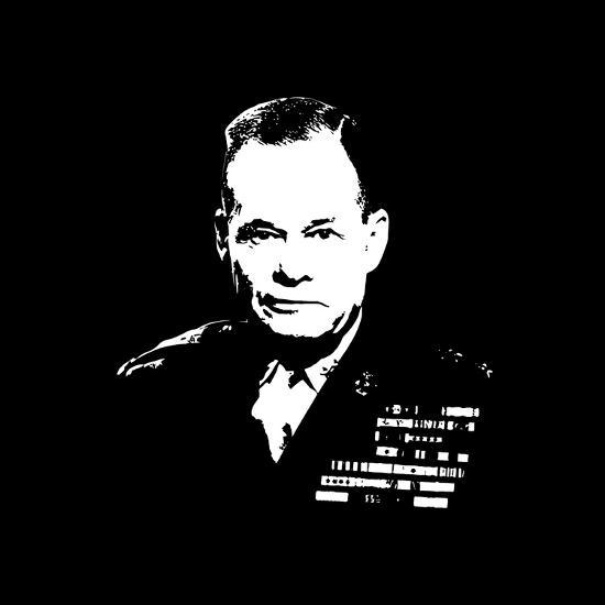 Vector Artwork of Lieutenant General Lewis Burwell Chesty Puller-Stocktrek Images-Photographic Print