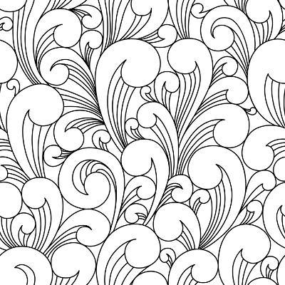 Vector Black and White Pattern with Abstract Waves. Can Be Used for Desktop Wallpaper or Frame for-Maria_Galybina-Art Print