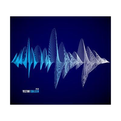Vector Equalizer, Colorful Musical Bar. Dark Background. Wave Concept- M Stasy-Art Print