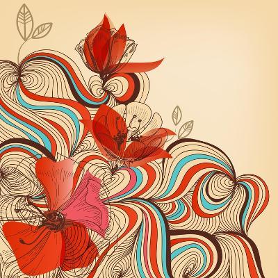 Vector Floral Background-Danussa-Art Print
