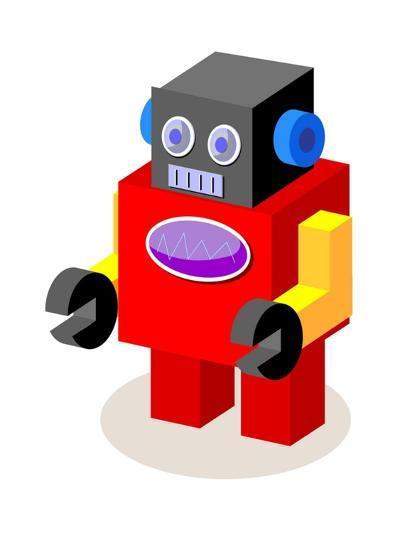 Vector Icon Robot-eastnine-Art Print