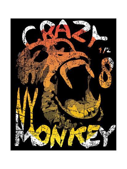 Vector Illustration, Funny Monkey-emeget-Art Print