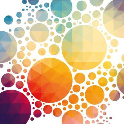 Vector Illustration of Colorful Geometric Background with Circles-Artem Kovalenco-Art Print