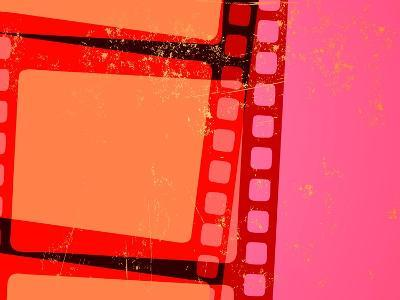 Vector Illustration of Retro Grunge Abstract Cinema Background-Pixel Embargo-Art Print