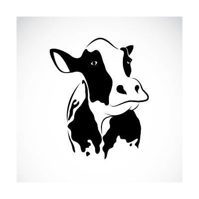 Vector Image of an Cow-yod67-Art Print
