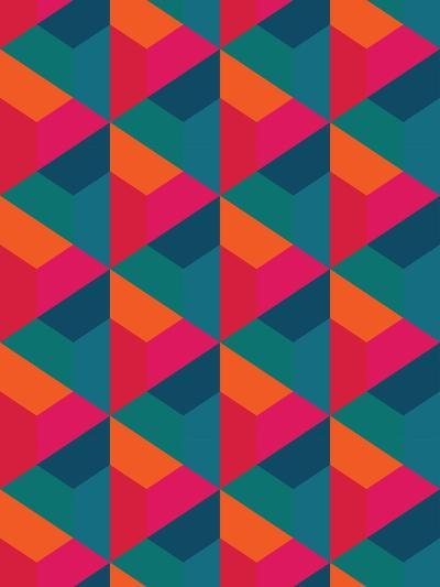 Vector Modern Seamless Colorful Geometry Pattern, Color Abstract Geometric Background, Pillow Multi- Sunspire-Art Print