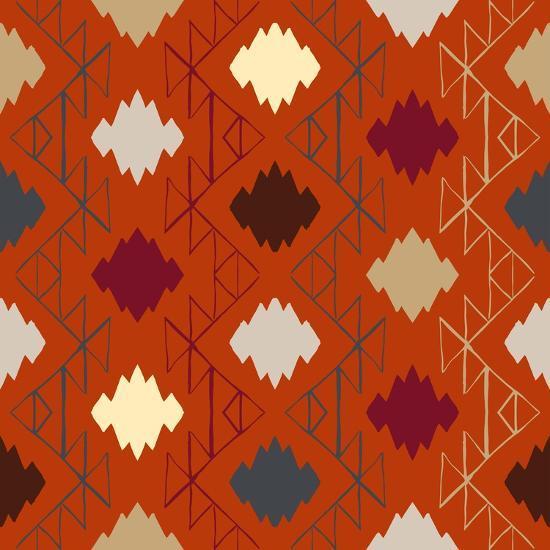 Vector Navajo Tribal Ornament-tukkki-Art Print