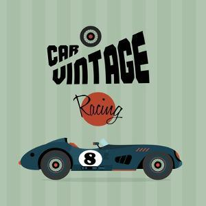 Vintage Sport Racing Cars by vector pro