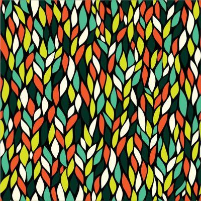 Vector Seamless Abstract Hand-Drawn Pattern with Leaf-Markovka-Art Print