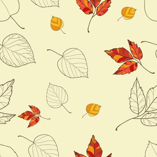 Vector Seamless Background with Autumn Leaves-lolya1988-Art Print