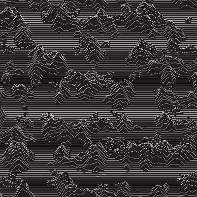 Vector Striped Background. Abstract Line Waves. Sound Wave Oscillation. Funky Curled Lines. Elegant-GarryKillian-Art Print