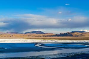 View of Laguna Corolada in the National Park of Bolivia by Veeravong Komalamena