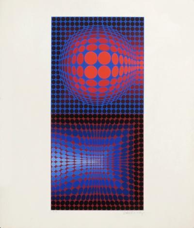Vega Pauk-Victor Vasarely-Limited Edition
