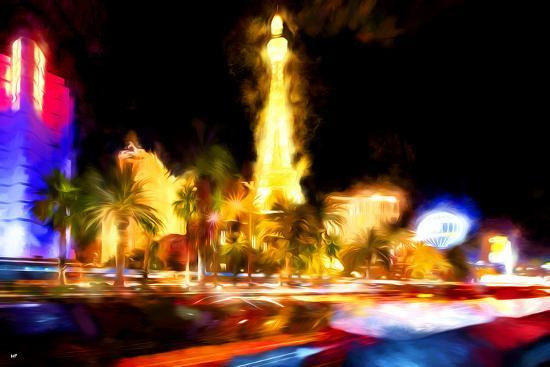 Vegas Light - In the Style of Oil Painting-Philippe Hugonnard-Giclee Print
