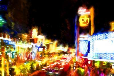 Vegas Strip Lights - In the Style of Oil Painting-Philippe Hugonnard-Giclee Print