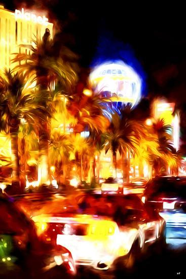 Vegas Traffic - In the Style of Oil Painting-Philippe Hugonnard-Giclee Print