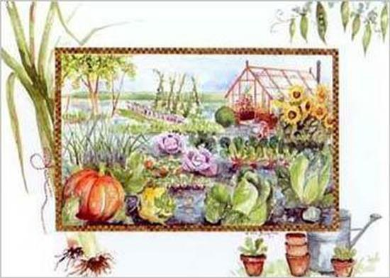 Super Vegetable Garden Art Print By Alie Kruse Kolk Art Com Download Free Architecture Designs Jebrpmadebymaigaardcom