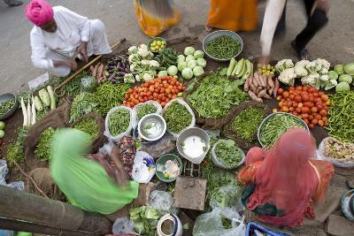 Vegetable Market, Jaisalmer, Western Rajasthan, India, Asia-Doug Pearson-Photographic Print