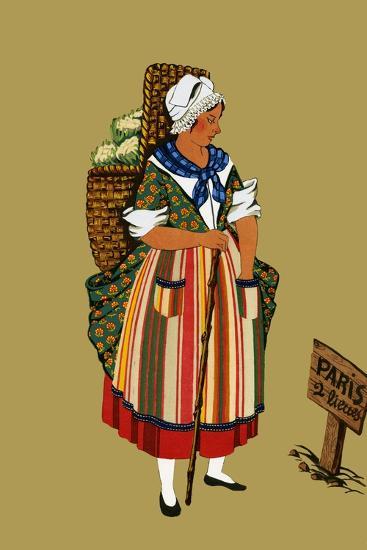 Vegetable Merchant from the Vicinity of Paris-Elizabeth Whitney Moffat-Art Print