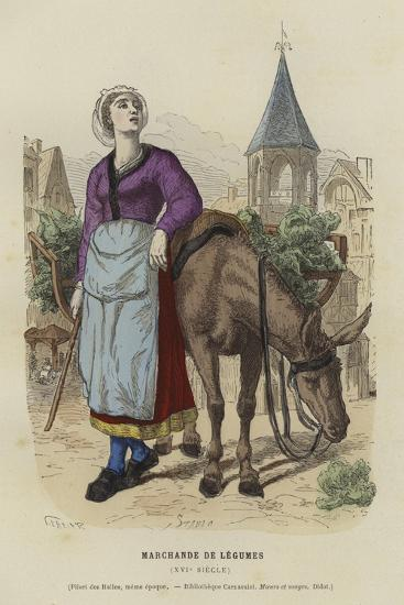 Vegetable Seller, 16th Century--Giclee Print