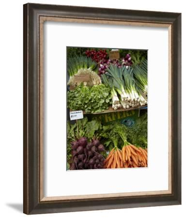 Vegetable Stall at Saturday Market, Salamanca Place, Hobart, Tasmania, Australia-David Wall-Framed Photographic Print