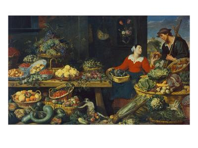 Vegetable Stall-Frans Snyders-Giclee Print