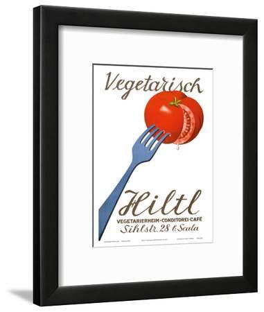 Vegetarisch Hiltl Vegetarian Restaurant - Zurich, Switzerland - Vegetarierheim, Konditorei, Café-Hugo Laubi-Framed Art Print