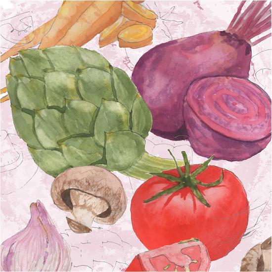 Veggie Medley I-Leslie Mark-Art Print