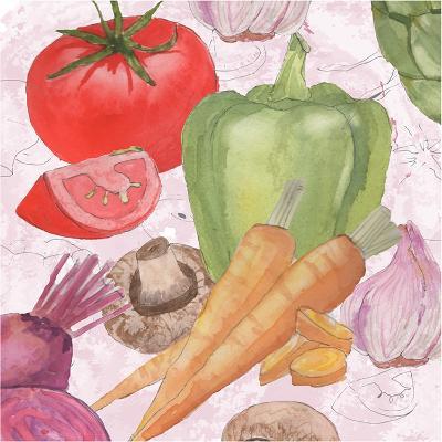 Veggie Medley II-Leslie Mark-Art Print