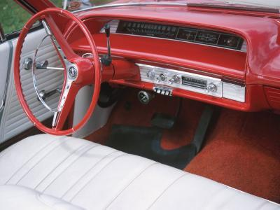 Vehicle with Antique Red Car Interior--Photographic Print