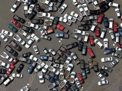 Vehicles Damaged by Hurricane Katrina--Photographic Print