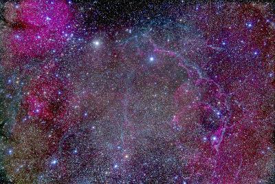 Vela Supernova Remnant in the Center of the Gum Nebula Area of Vela-Stocktrek Images-Photographic Print
