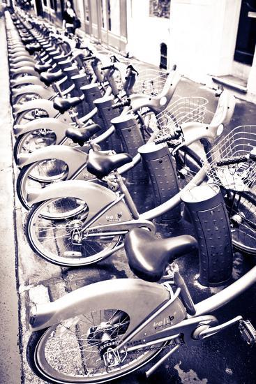 Velib Bicycles for Rent, Paris, France-Russ Bishop-Photographic Print