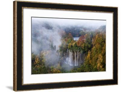 Veliki Prstavci Waterfalls Close to Gradinsko Lake at Dawn, Plitvice Lakes Np, Croatia, October-Biancarelli-Framed Photographic Print