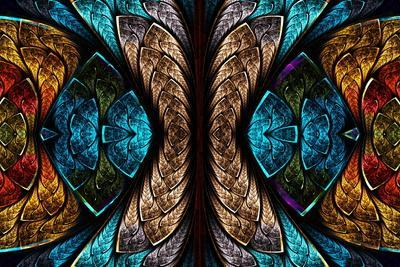 Fractal Pattern in Stained Glass Style