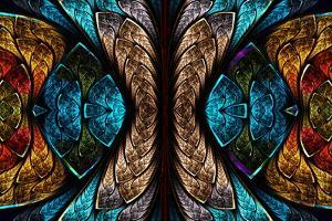 Fractal Pattern in Stained Glass Style by velirina