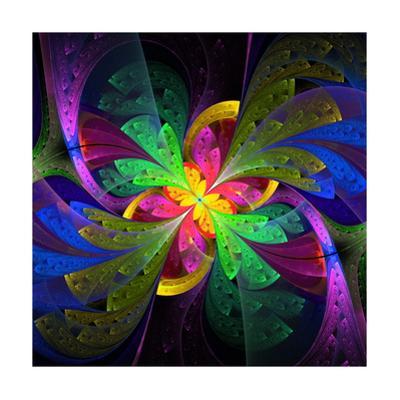Multicolor Beautiful Fractal Flower by velirina