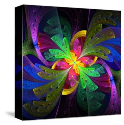 Multicolor Beautiful Fractal Flower by velirina