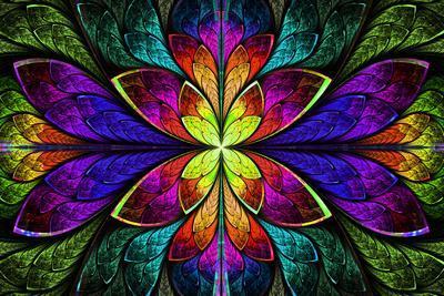 Multicolor Beautiful Fractal Pattern