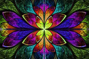 Multicolor Beautiful Fractal Pattern by velirina