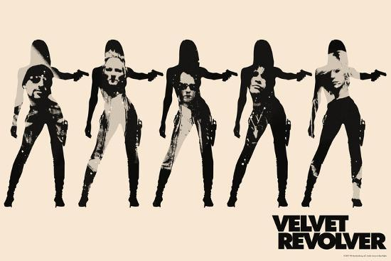 velvet revolver cream band silhouette art print by art com