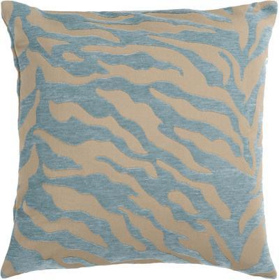 Velvet Zebra Poly Fill Pillow - Ice Blue