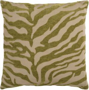 Velvet Zebra Poly Fill Pillow - Moss