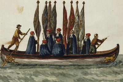 Venetian Boat Decked Out For--Giclee Print