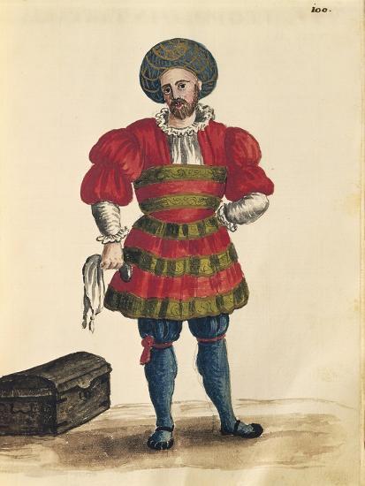 Venetian Clothing: Venetian Traveler-Jan van Grevenbroeck-Giclee Print