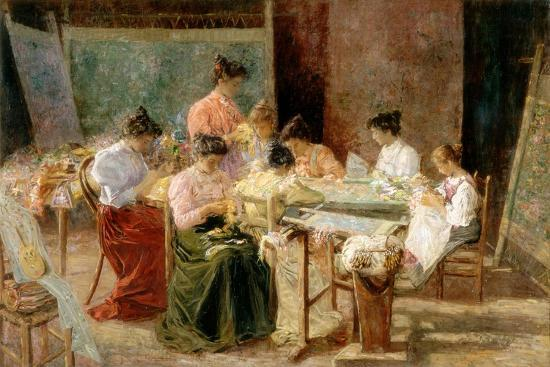 Venetian Embroidery Makers, C.1905-Andrew Colley-Giclee Print